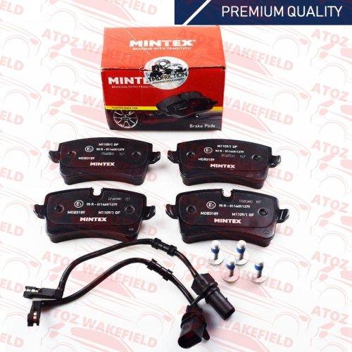 FOR AUDI A6 A7 RS6 RS7 RSQ3 RS5 REAR PREMIUM QUALITY MINTEX BRAKE PADS SENSOR