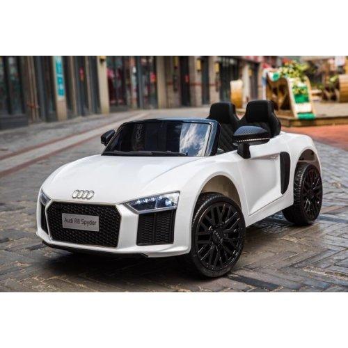 (White) 12V Licensed Audi R8 Spyder Battery Ride On Car