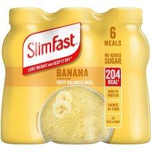 SlimFast Shake Multipack, Banana, 6 x 325 ml, Packaging May Vary