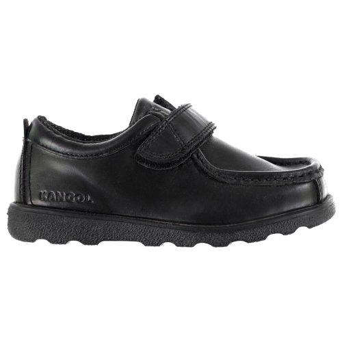 Kangol Waltham Childs Shoes Boys Black School Padded Hook and Loop Footwear