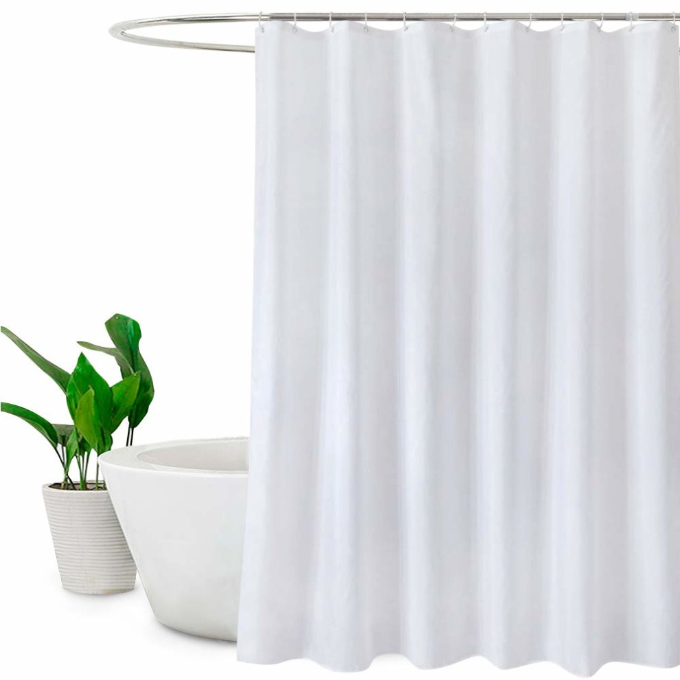 Extra Long Shower Curtains 180 X 210cm Drop 72 X 84 Mildew Resistant Bathroom Curtain Shower Water Repellant White On Onbuy