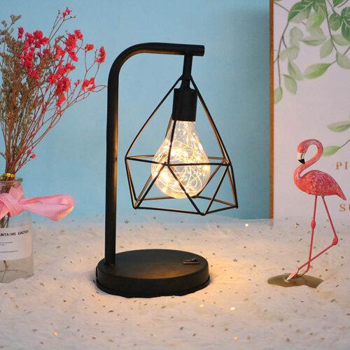 LED Industrial BedSide Table Lamp Geometric Desk Lights Retro Lamps