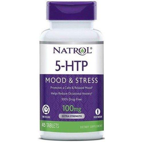 Natrol  5-HTP Time Release, 100mg - 45 tabs