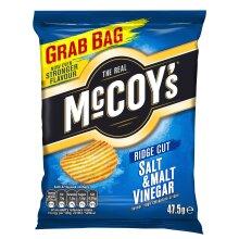 McCoys Salt & Malt Vinegar Crisps - 26x47.5g