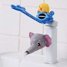 Water Tap Children's Sink Extender Baby Hand Washing Faucet Extension Spout Artifact Water Pipe Splash-proof Cartoon(#05)