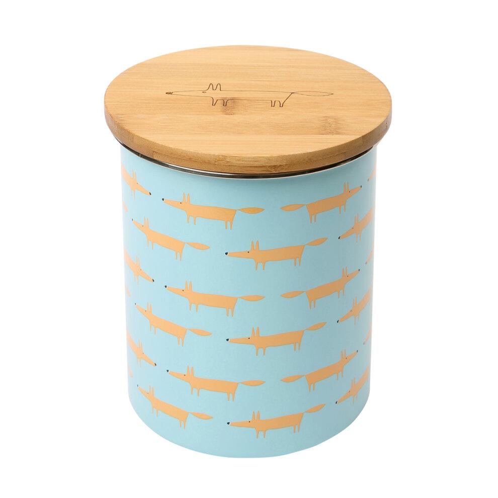 Scion Mr Fox Biscuit Storage Jar, Blue