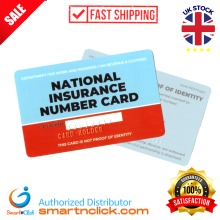 Nationa Insurance Number replacement card personalised embossed