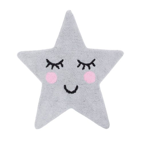 Sweet Dreams Grey Star Children's Bedroom Decor Rug
