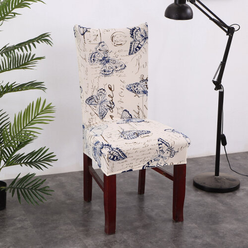 (Butterfly) Flower Printed Chair Covers Elastic Dustproof Case