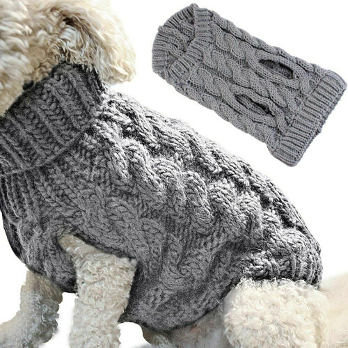 Fashion Puppy Dogs Winter Warm Knitted Sweater Pets Comfy Clothes Pullover
