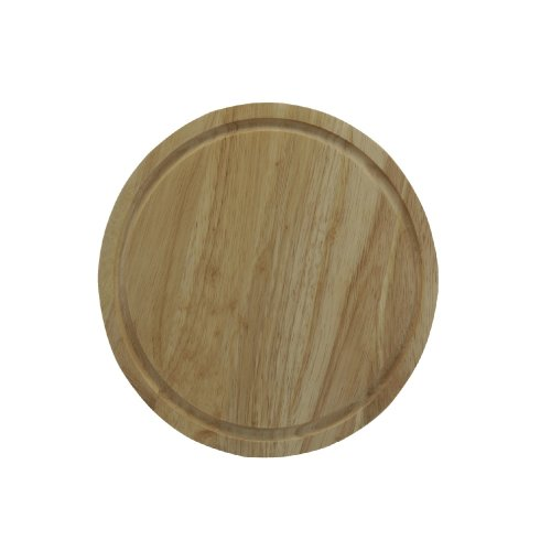 25cm Round Wooden Bread Cheese Fruit Vegetables Slicing Chopping Cutting Board
