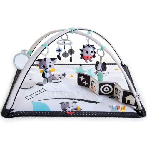 Tiny Love Black and White Gymini, Modern Design Baby Play Mat, 0m +, 93 x 85 x 49 cm, Magical Tales