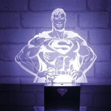 Superhero Mood Light Lamp Superman stance new Official DC Comics