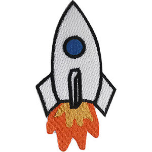 Patch - Space - Rocket Ship Icon-On p-dsx-4737