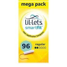 Lil-Lets Non-Applicator Regular Tampons X 96   6 Packs of 16   Light to Medium Flow,8210478P