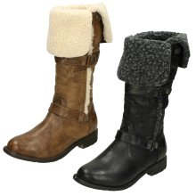 Ladies Coco Fur Lined Long Boots