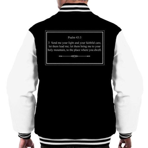 Religious Quotes Send Me Your Light Psalm 43 3 Men's Varsity Jacket