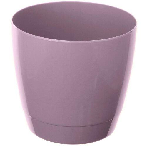 Set Of 4 Indoor / Outdoor Round Large Plant Pots 20cm Planters Purple