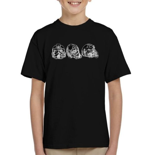 Original Stormtrooper Imperial TIE Pilot Helmet Abstract Kid's T-Shirt