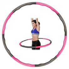 Kabalo Weighted Collapsible Padded Fitness Workout Hula Hoop (Pink/Grey)