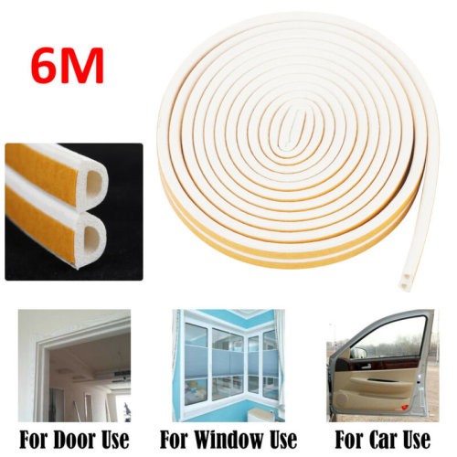 6M FOAM DRAUGHT EXCLUDER WINDOW WEATHER SEAL STRIP TAPE INSULATION