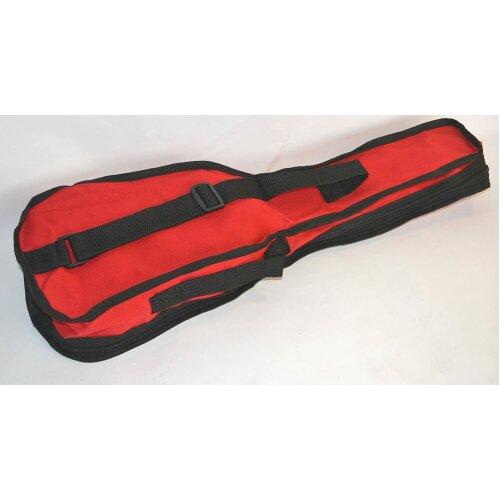 SOPRANO UKULELE RED GIG BAG SOFT CASE BUDGET BAG BY CLEARWATER