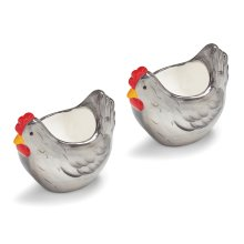 Cooksmart Farmers Kitchen Set of 2 Chicken Egg Cups