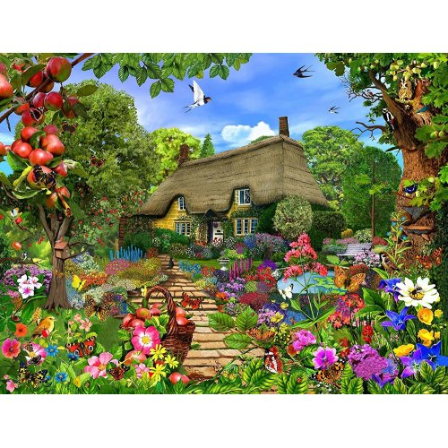 Thatched Cottage Garden Jigsaw Puzzles
