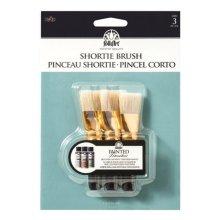 Plaid 5080 1 in. Folkart Short Paint Brushes- pack of 3