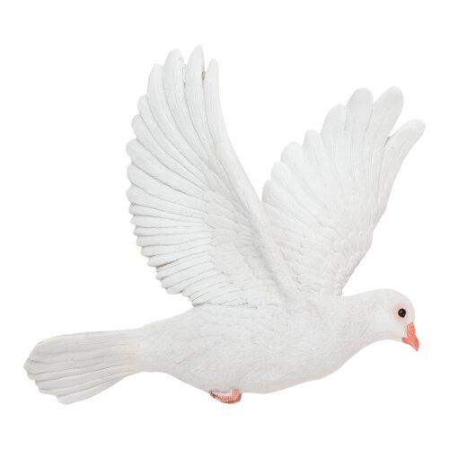 Realistic White Dove Wall Art Garden Ornament