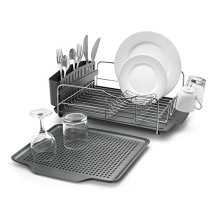 Polder 4-Piece Advantage Dish Rack System, Grey