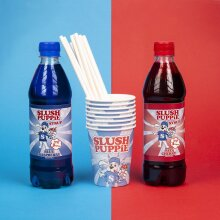 SLush Puppie Blue Raspberry, Red Cherry & Paper Cups Set