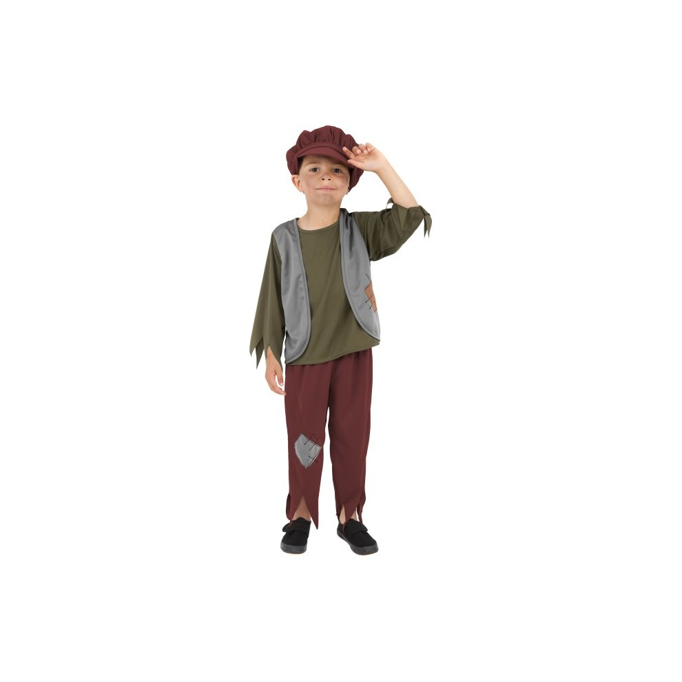 Childrens Boys Poor Victorian Fancy Dress Costume Childs Urchin Outfit Smiffys