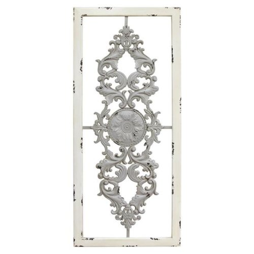 Home Roots 321183 Grey Scroll Panel Wall Decor
