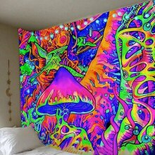 large Trippy Mushroom Tapestry Psychedelic Art Wall Hanging Throw Blanket Decors