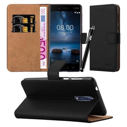For Nokia 8 Premium Leather Wallet Flip Case Cover