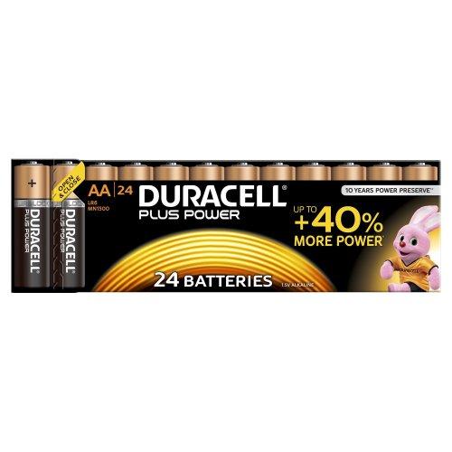 24pk Duracell MN1500 Plus Power AA Batteries