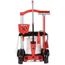 Henry Cleaning Trolley Toy Set - Casdon 630 Kids Play -  cleaning trolley henry casdon 630 toy kids play set