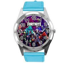 Blue Leather Watch for FORTNITE Fans