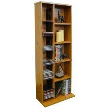 CLAREMONT - 223 CD / 65 DVD Blu-ray Video Multimedia Storage Unit - Pine