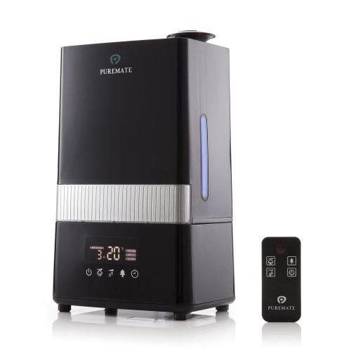 (Black) PureMate Digital Ultrasonic Cool Mist Humidifier