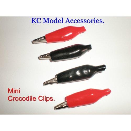 R/C Mini Crocodile Clips x 2 pairs Red And Black