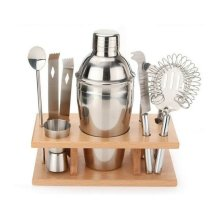 8pc Stainless Steel Cocktail Set | Cocktail Maker With Accessories