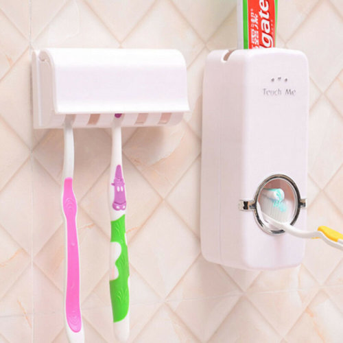 New Automatic Toothpaste Toothbrush Holder Bathroom Mounted