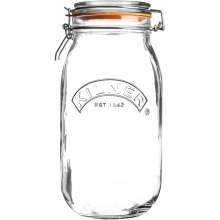 Kilner 0025.494 Cliptop Round Jar 3 Litre, Glass, 3 L
