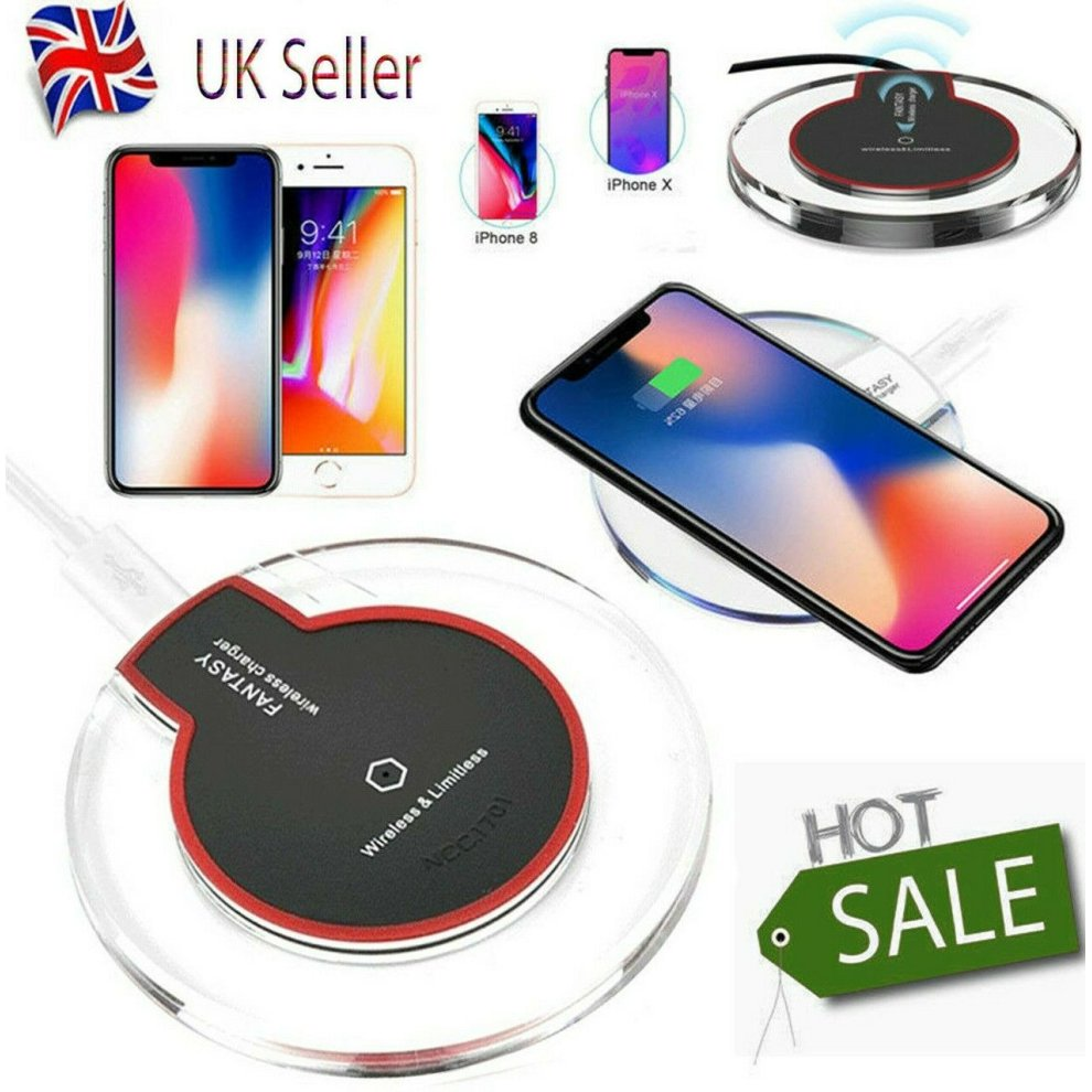 Super Fast Wireless Charger Charging For Apple Samsung iPhone 11 Xs Xr S8 S9 10