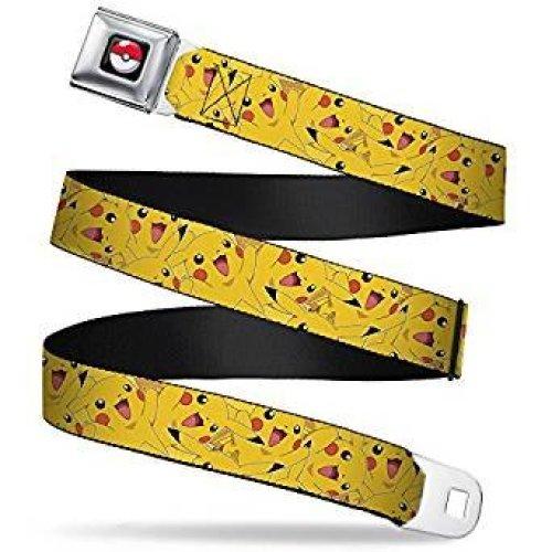 Seatbelt Belt - Pokemon - V.111 Adj 24-38' Mesh New pka-wpk001