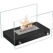 Free-Standing Bio-Fireplaces HOTEL MINI Black With TÜV Certified