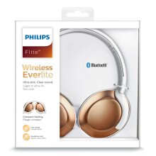 PHILIPS Bluetooth Headphones Mic Remote Gym Sports Wireless NEW