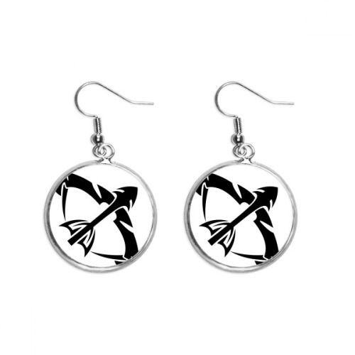Constellation Sagittarius Zodiac Sign Ear Dangle Silver Drop Earring Jewelry Woman